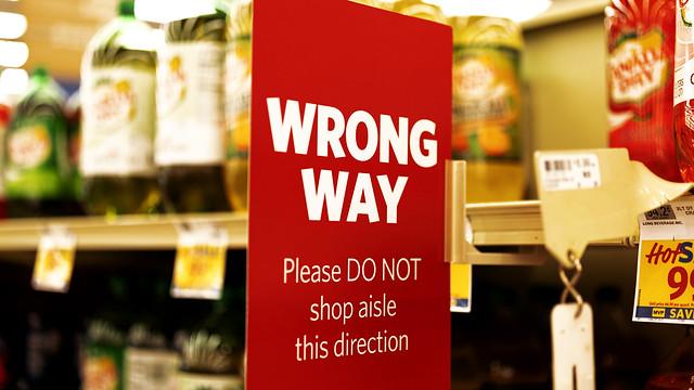 Wrong Way Shopping