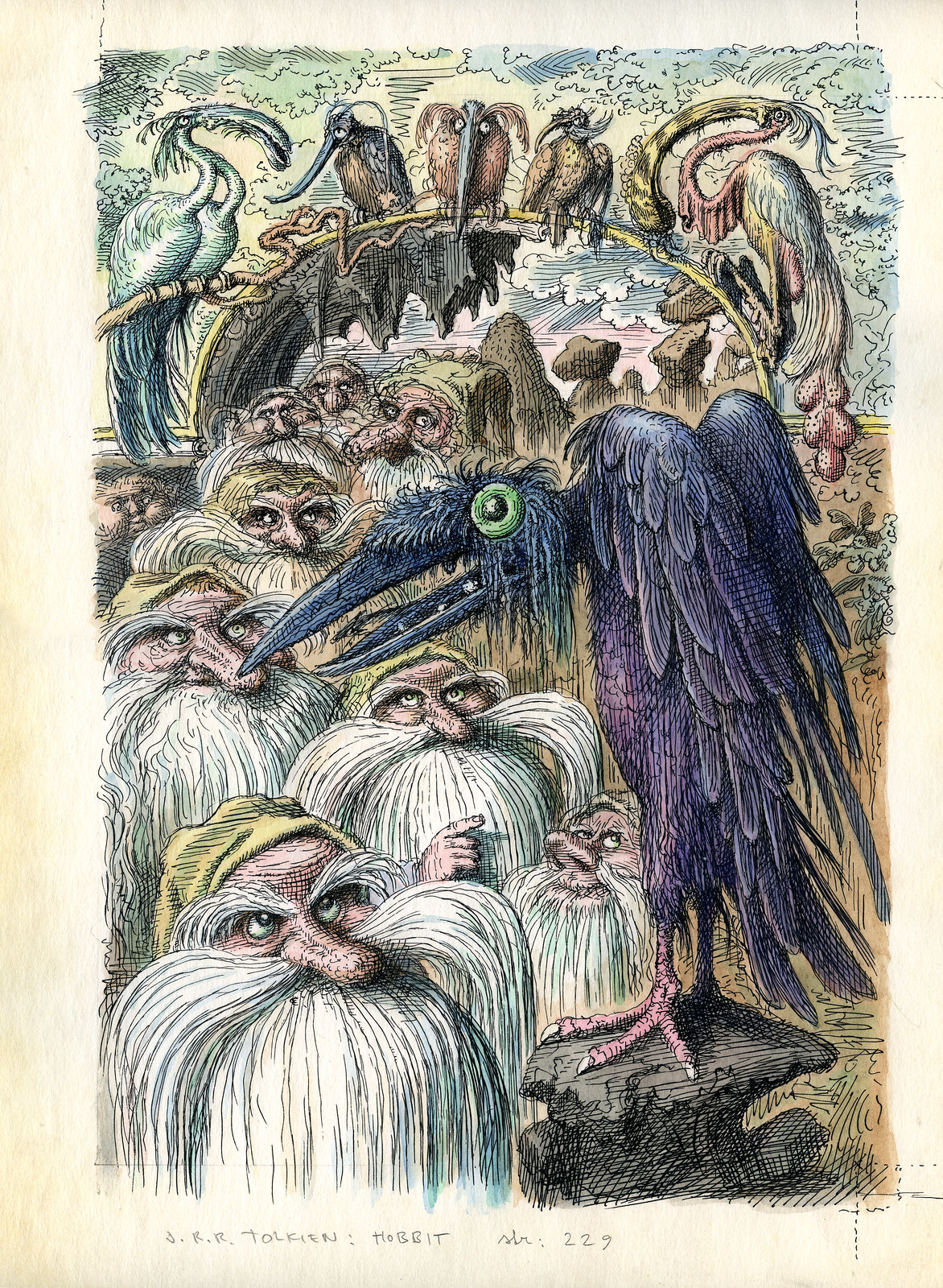 Peter Klucik -The Hobbit, Illustration 17