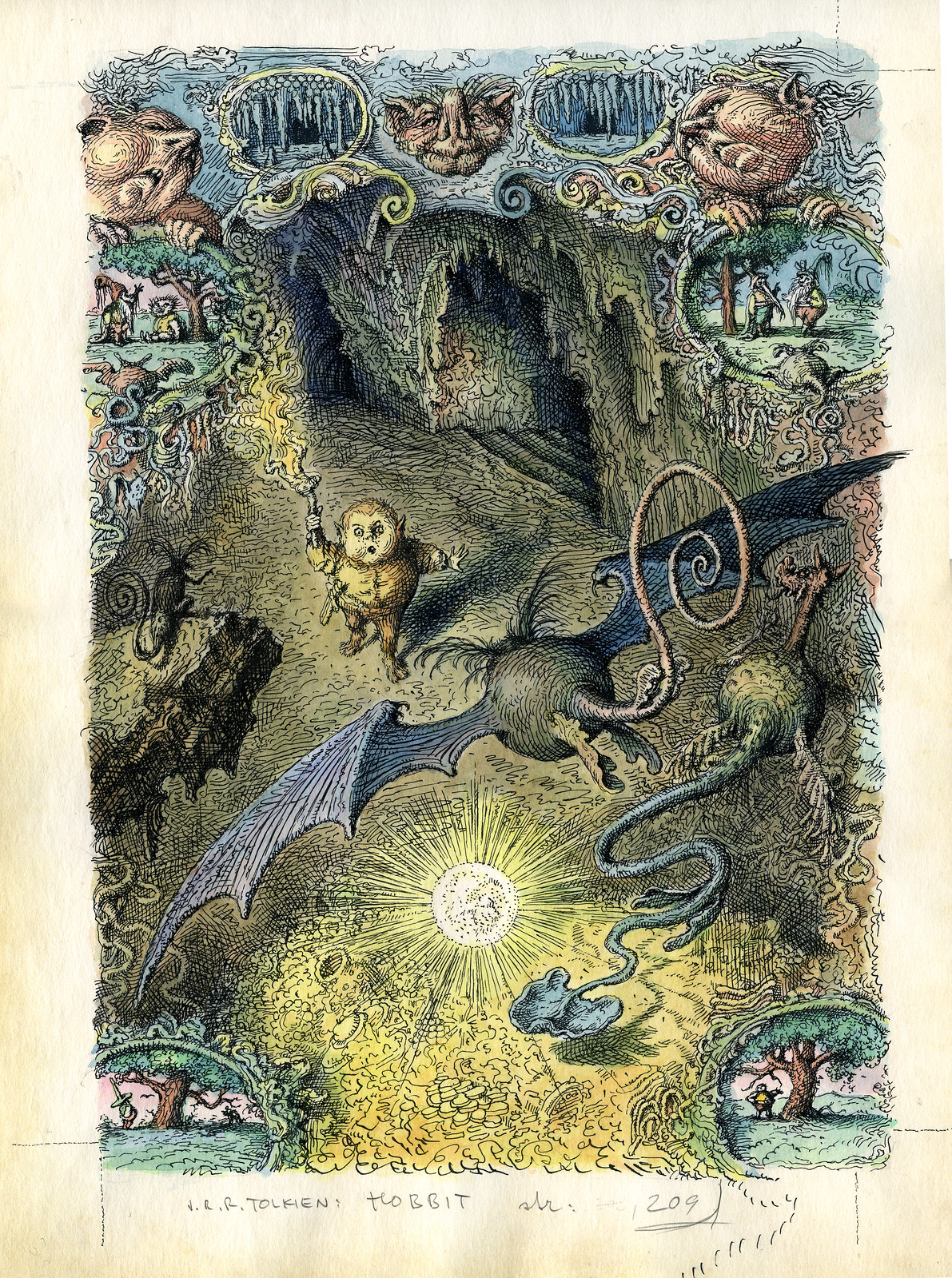 Peter Klucik -The Hobbit, Illustration 06