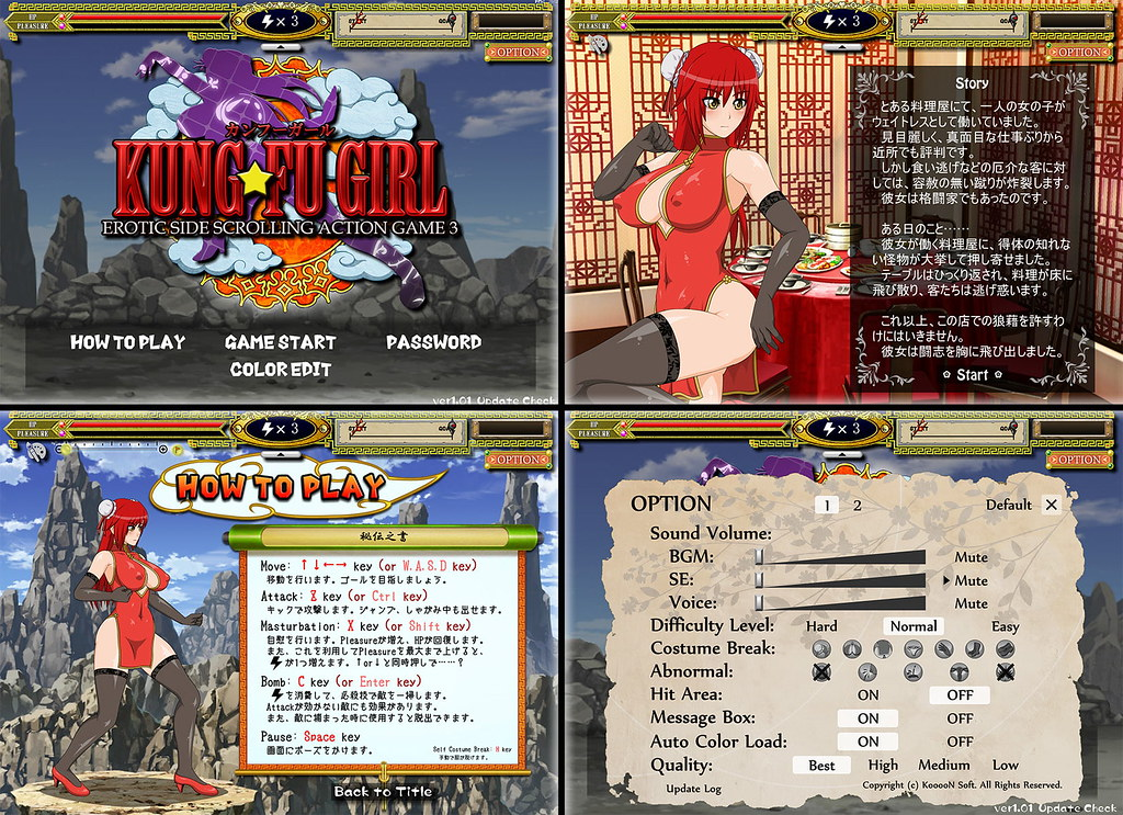 KUNG-FU GIRL -EROTIC SIDE SCROLLING ACTION GAME 3-