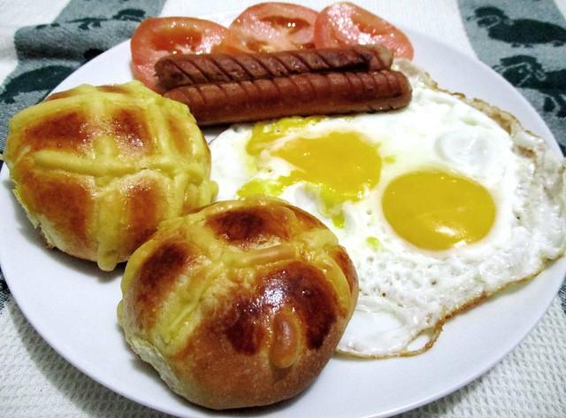 Potato bread for breakfast