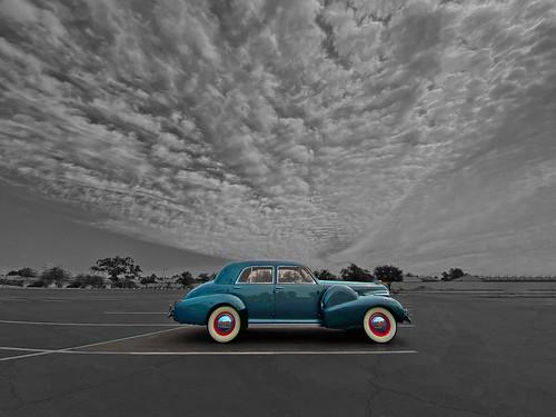 1940 cadillac fleetwood 60 series car automobile suncitywest arizona clouds sky vista view nature natural cool coolshot angle