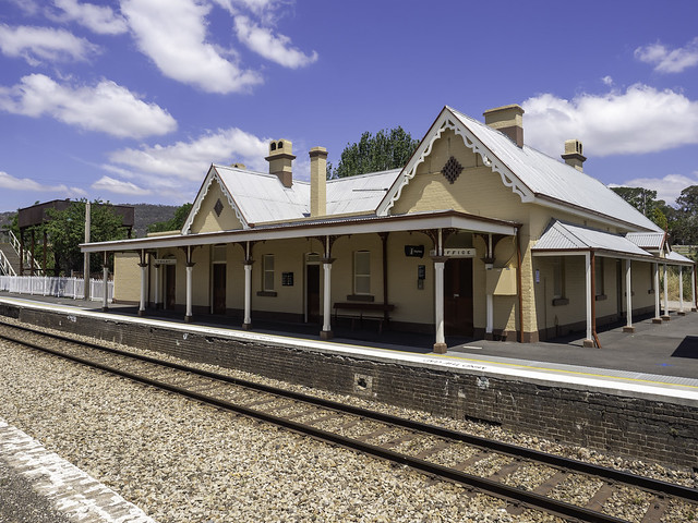 Tarana Railway Station - Central Tablelands NSW - built from 1872 - see below