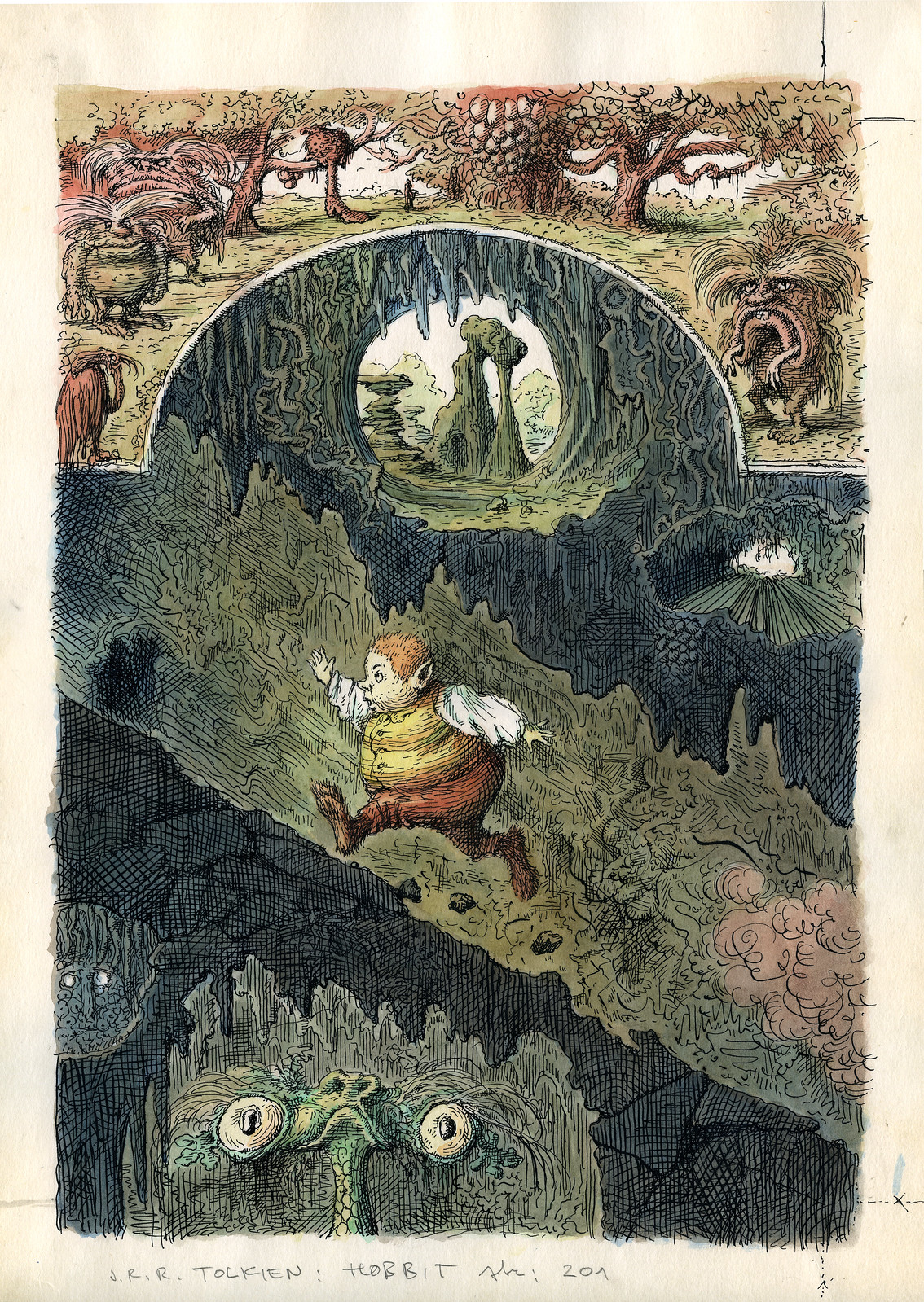 Peter Klucik -The Hobbit, Illustration 14