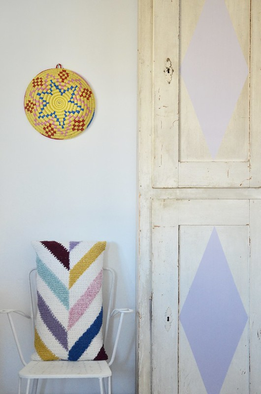 chevron pillow crochet pattern