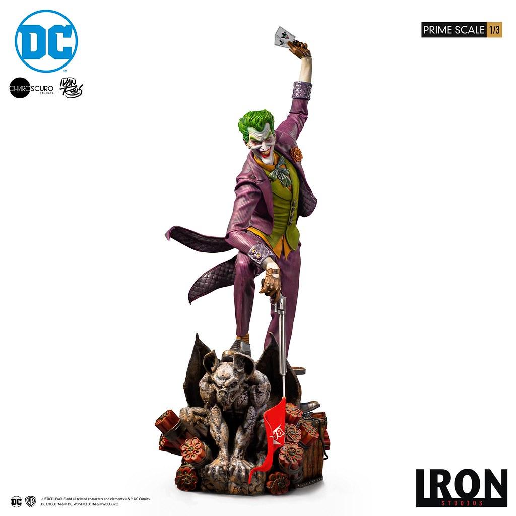 細緻臉皮帶來逼真的驚悚效果!! Iron Studios Prime Scale 系列 DC Comics【小丑 (The Joker) by Ivan Reis】1/3 比例全身雕像