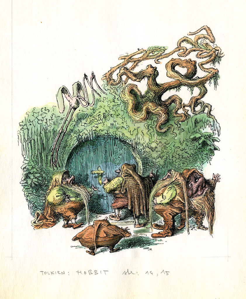 Peter Klucik -The Hobbit, Illustration 22
