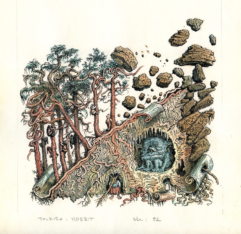 Peter Klucik -The Hobbit, Illustration 21