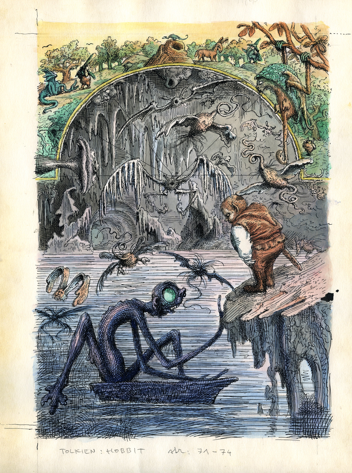 Peter Klucik -The Hobbit, Illustration 04