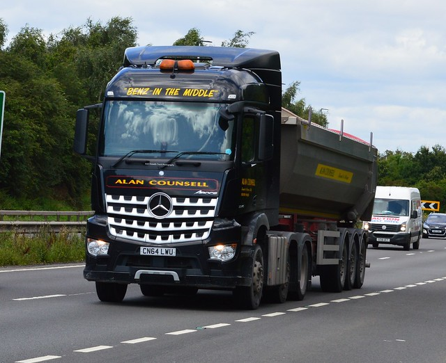 Alan Counsell CN64 LWU On the A5 At Shrewsbury