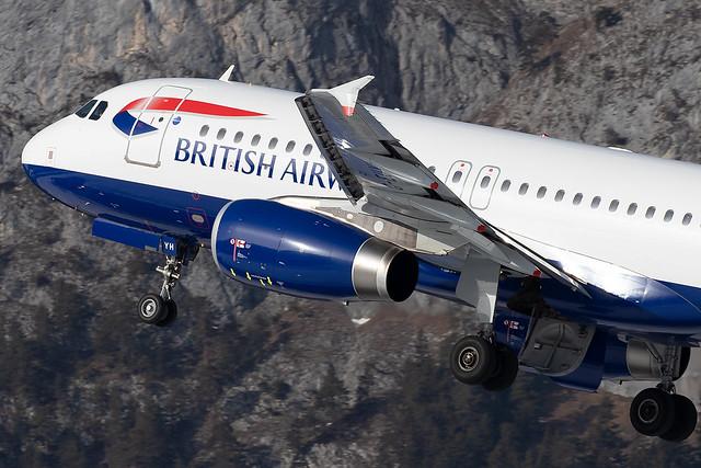 G-EUYH British Airways A320-200 Innsbruck