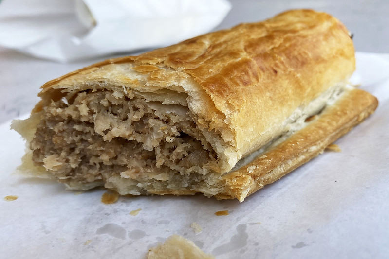 Sausage roll: Knights Bakehouse, Castle Hill