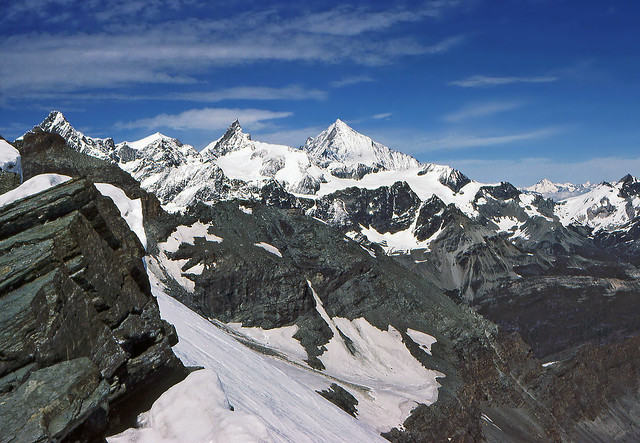 Weisshorn group from above Breuil pass