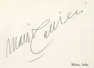 Firma de Mario Carrieri