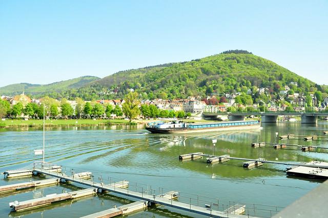 April 2020 ... Heidelberg ... Neckar ... Heiligenberg ... Brigitte Stolle