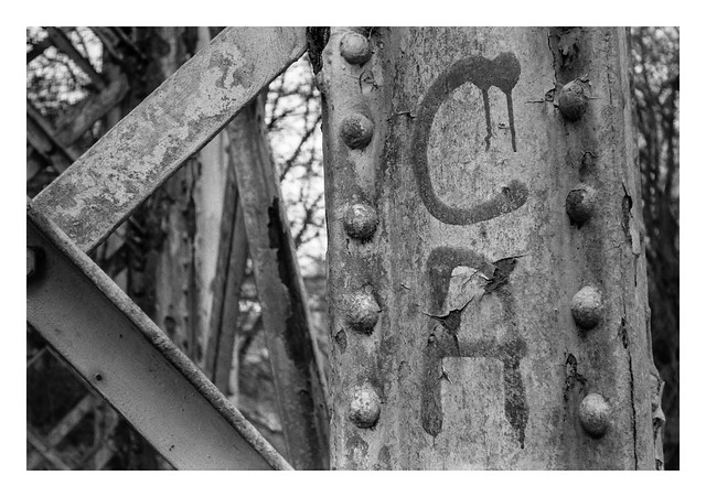 Abandoned bridge detail