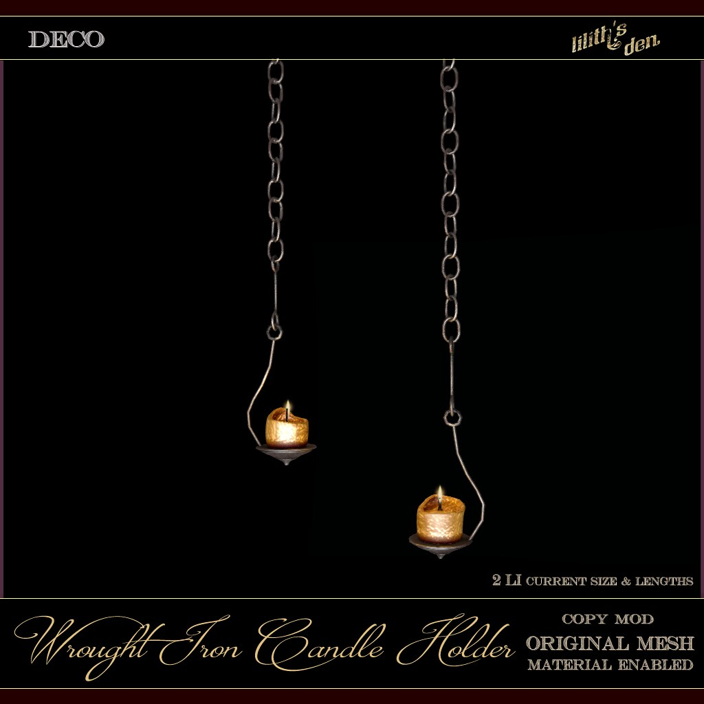 FF 2020 Exclusive: Lilith's Den  - Wrought Iron Candle Holder