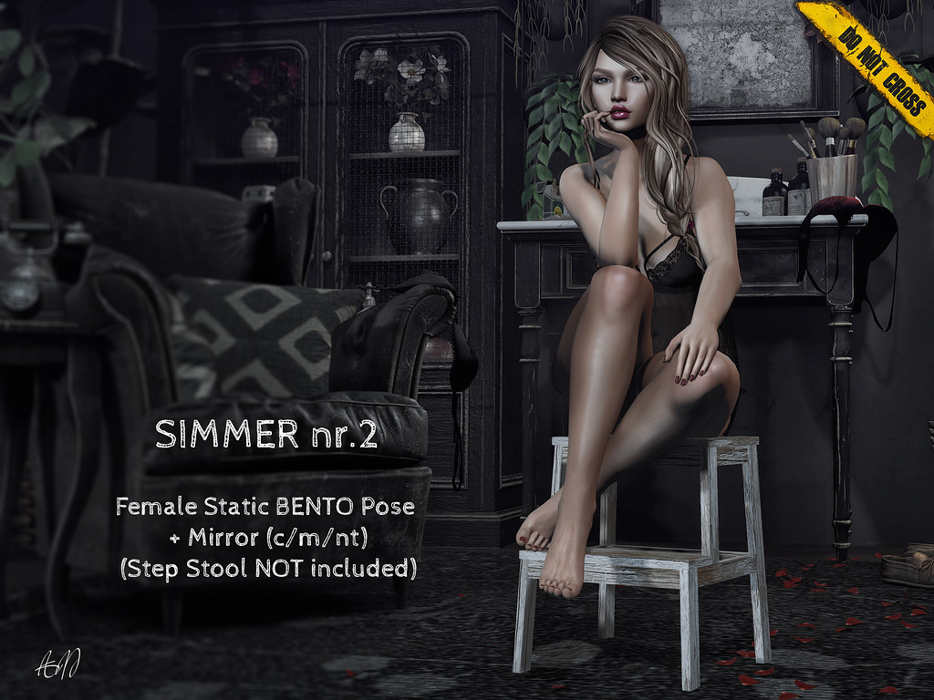 -DNC- Simmer nr.2 – Female Bento Pose (Step Stool not included)