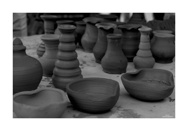 Pottery is the process of forming with clay and other ceramic materials