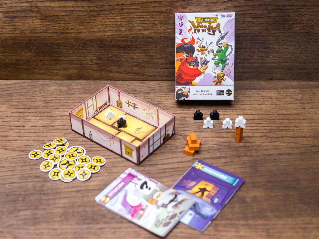 ninja academy academia juego de mesa boardgame