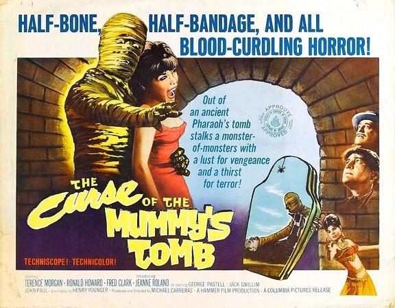 Affiche du film Les Maléfices de la momie (The Curse of the Mummy's Tomb, Michael Carreras, 1964)