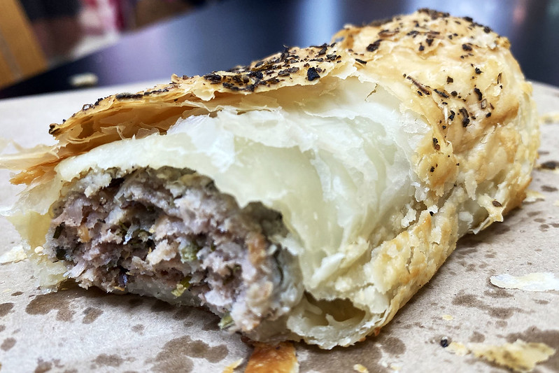 Sausage roll: Artisan Bakehouse, Castle Towers