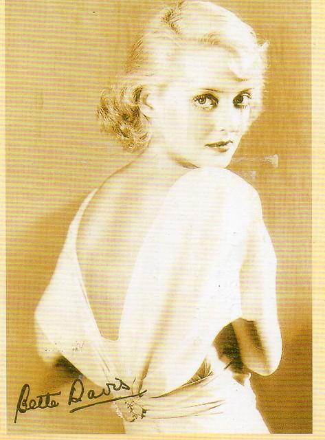Bette Davis. ( American actress  1908-1989)
