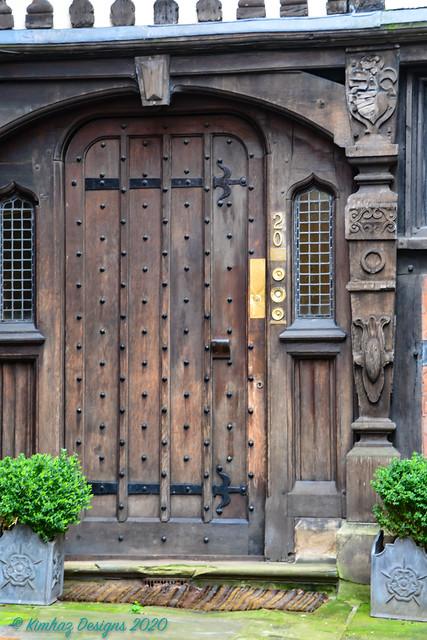 Shrewsbury - Door No 20 Brown Carved