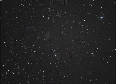 VCSE - C/2020 A2 (Iwamoto) Fridrich János egyik képén. Az üstökös mozgását lejjebb az animáció mutatja - Fridrich János képe