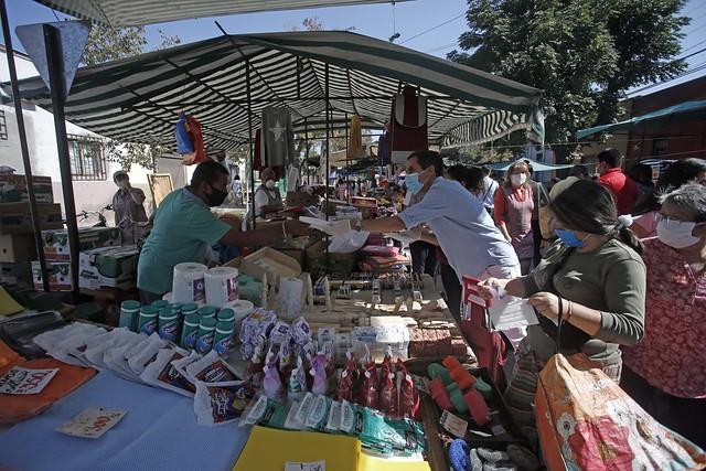 #EnTerreno : Entrega de Mascarillas en Feria Gaspar de la Barrera