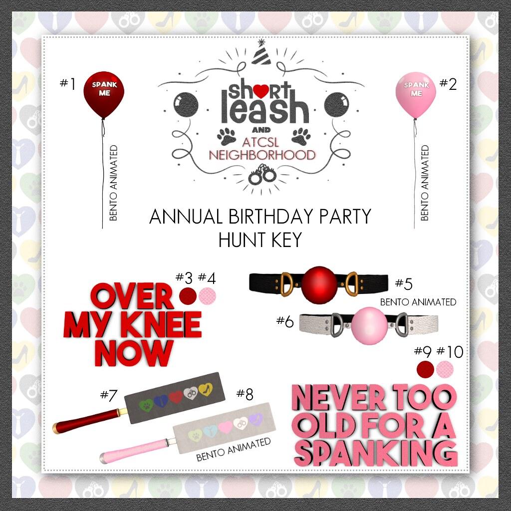 .:Short Leash:. Annual Birthday Party 2020 Hunt Key