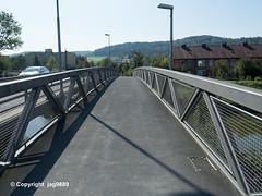TOS810 Johannes-Beugger Pedestrian Bridge over the Töss River, Winterthur, Canton of Zurich, Switzerland