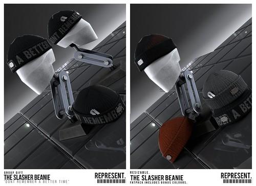REPRESENT - The Slasher Beanie + Group Gift(s)