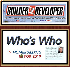 Honored to be named a Who's Who in Homebuilding again!