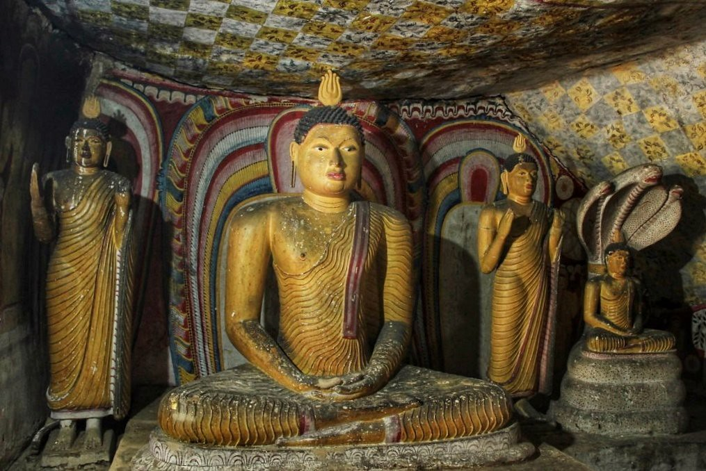 Inside the Dambulla Cave Temple