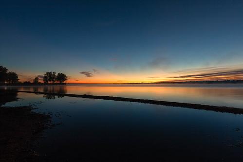 sunrise dawn daybreak morning landscape reflections trees longexposure le chatfieldstatepark colorado