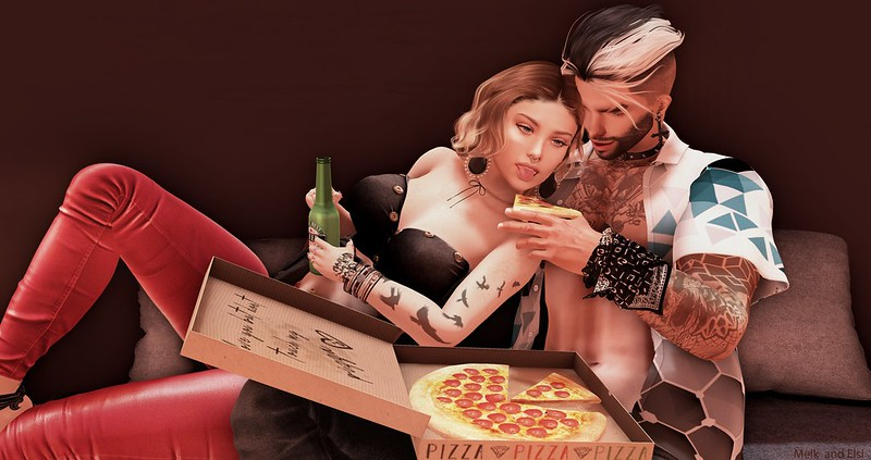 Eating pizza ...