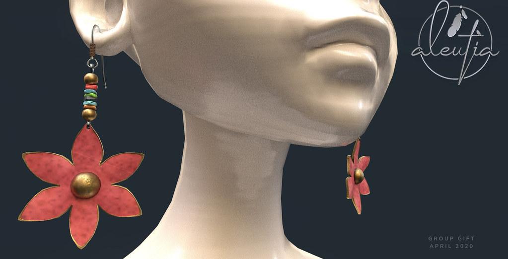 [Aleutia] Spring Earrings ~ April Group Gift