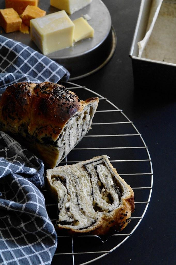 olive paste & feta babka