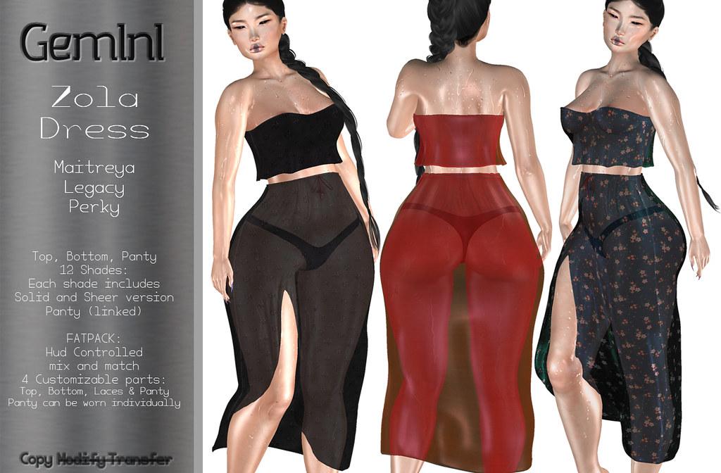 •Gemini -Zola Dress- @ Shiny Shabby•