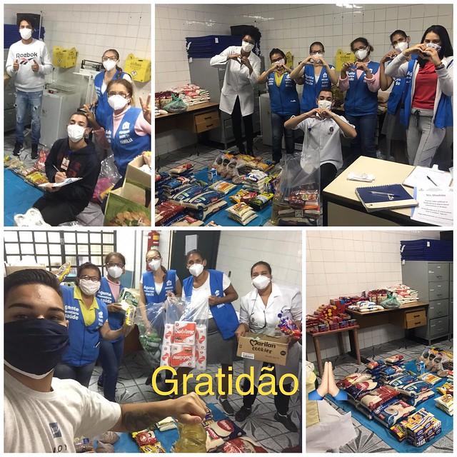 ACMA verteilt Grundnahrungsmittel und Hygieneartikel an Bewohner*innen in der Favela
