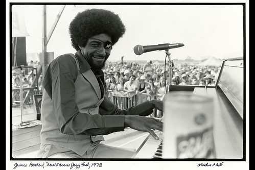 James Booker, New Orleans Jazz Fest. Photo by Michael P. Smith, held by HNOC.