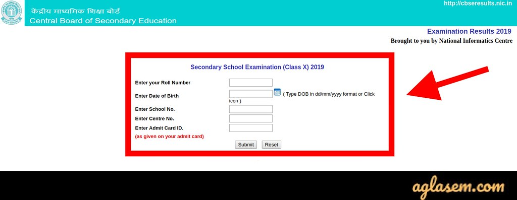 CBSE 10th Result Login
