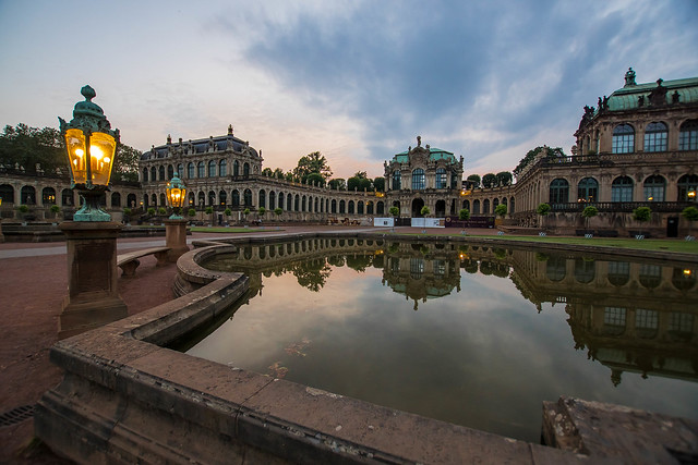 Dresden, Zwinger at dawn