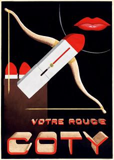 GEROUDET, René.  Votre rouge, Coty, c. 1938.