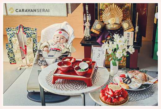 100日祝い 端午の節句 兜飾り お食い初め ご自宅へ出張撮影 愛知県名古屋市