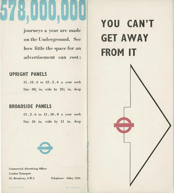 London Transport Commercial Advertising publicity folder