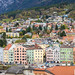 Aerial view over old city of Innsbruck, Tyrol, Austria.