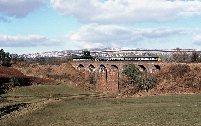 DMU on Dry Beck viaduct