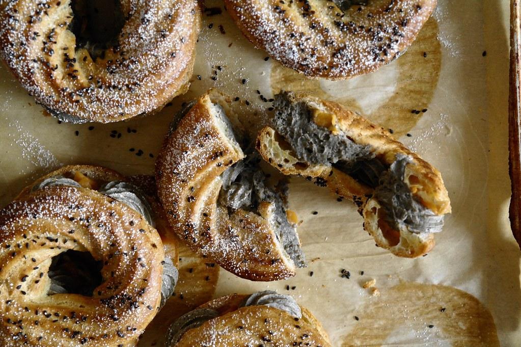 black sesame & persimmon paris-brest